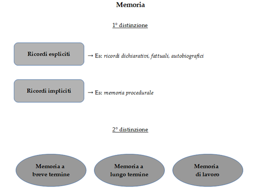 Memoria e distinzioni